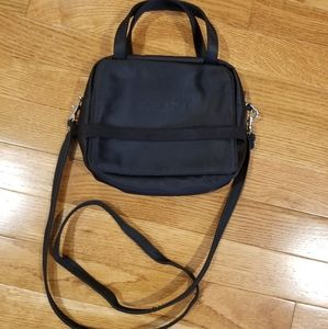 Esprit vintage black nylon small crossbody purse